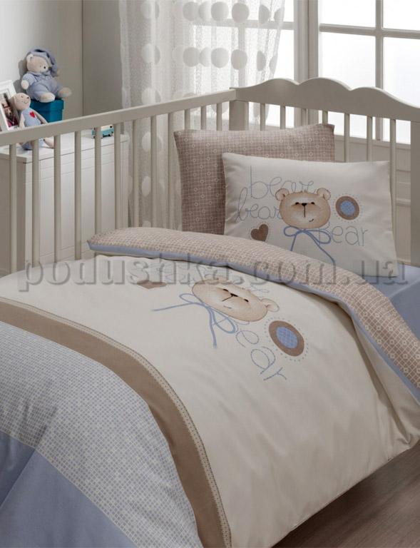 Спальный комплект в кроватку Karaca Furry кофейный - 7 предметов