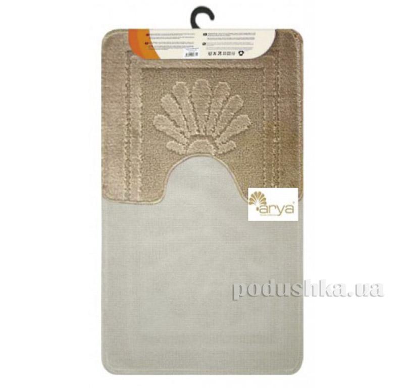 Комплект бежевых ковриков для ванной комнаты Mono Arya 1380080   ARYA