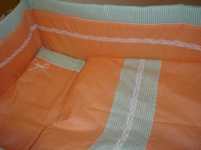 Постельное белье Веселый горошек персиковый