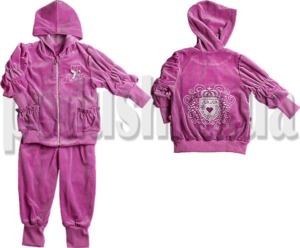 Спортивный костюм для девочек Ляля 2ТК103В велюр