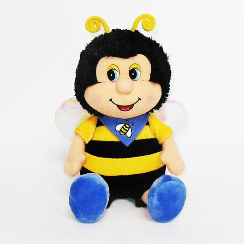 Мягкая игрушка - ПЧЕЛКА С ПЛАТОЧКОМ (муз., 21,5 см)