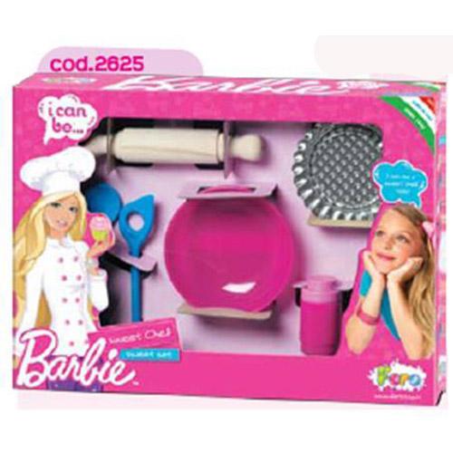 Набор посуды - Барби Кондитер с деревянной скалкой (6 предметов)