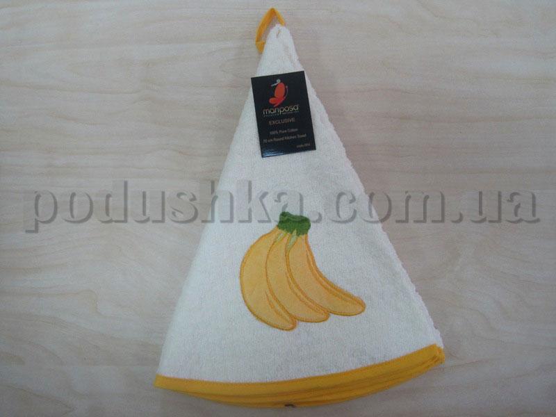 Полотенце махровое кухонное круглое Mariposa Бананы