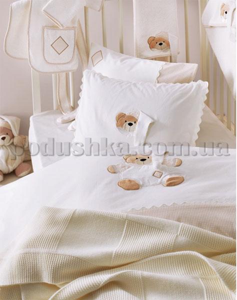 Спальный комплект в кроватку Karaca Bebek Bear кремовый