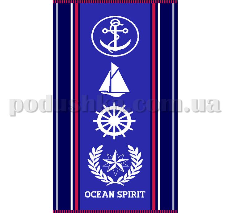 Полотенце пляжное Maisonette Oceans синее