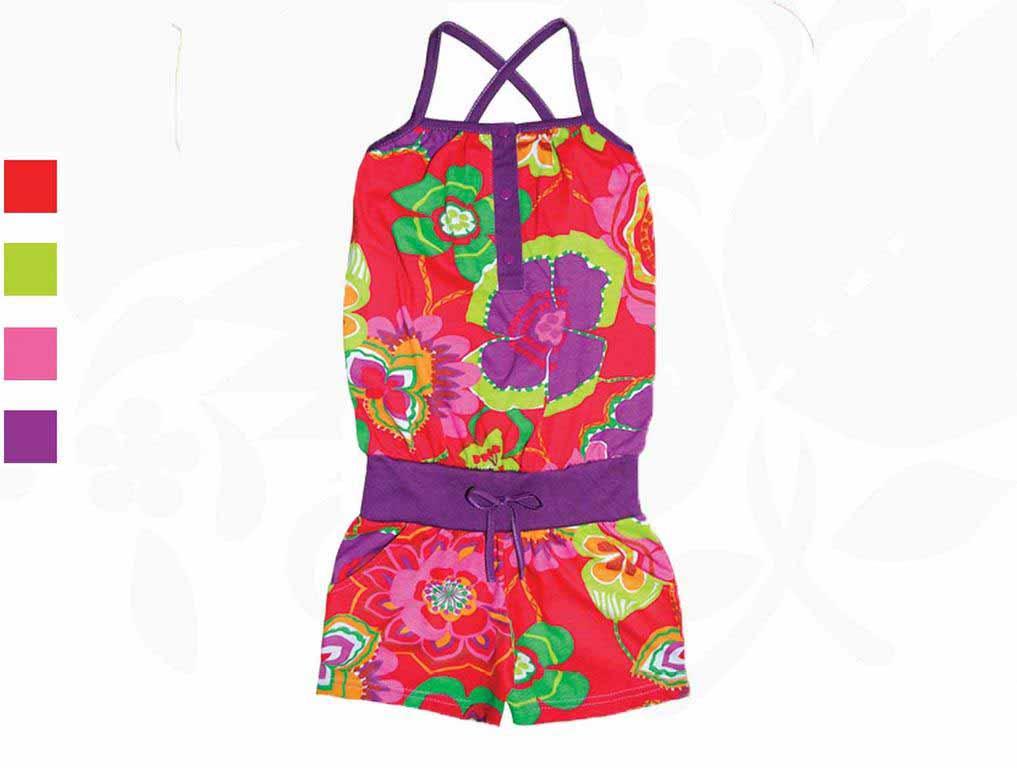 Комбинезон для девочек Фламинго 784-117