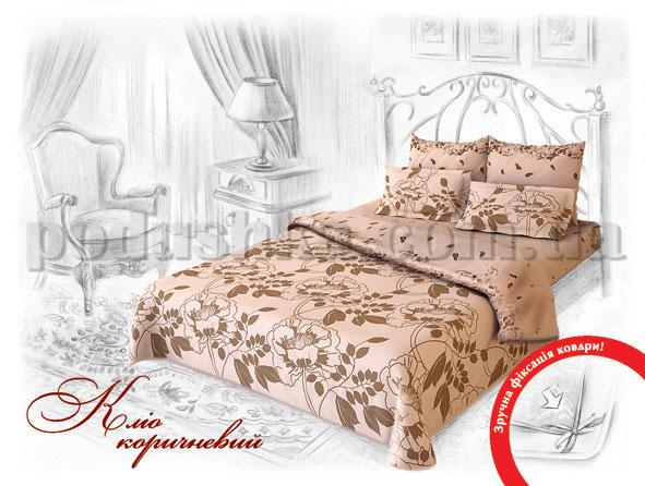 Постельное белье Home line Клио коричневый