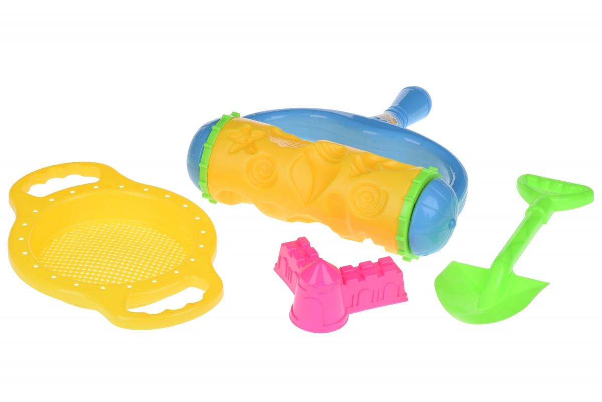 Набор для игры с песком Same Toy с Валиком (Желтый) 4 шт HY-1904WUt-2
