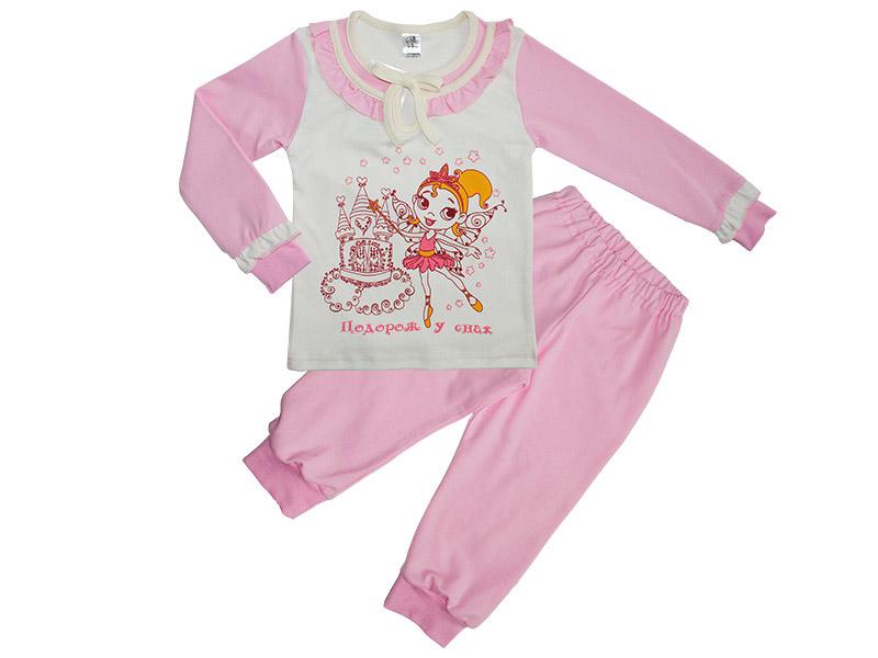 Пижама для девочек Фламинго 353 интерлок