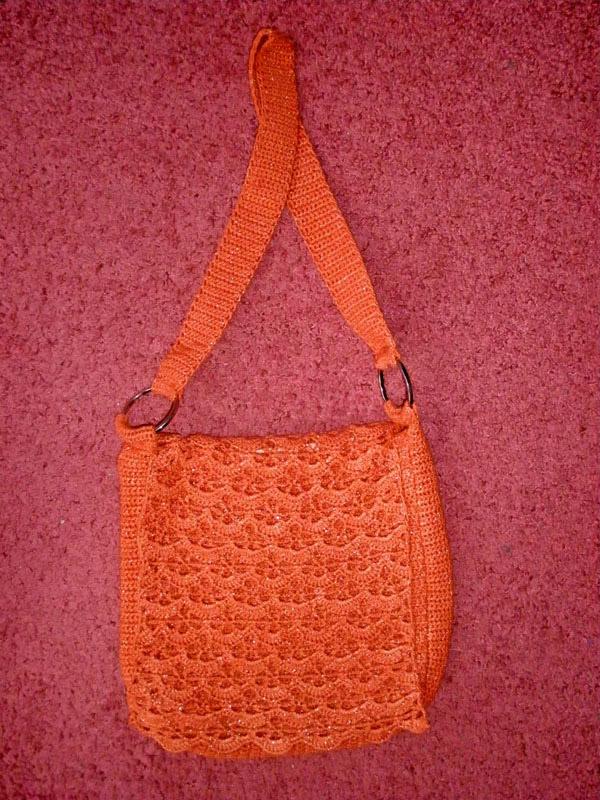 Пляжная оранжевая сумка