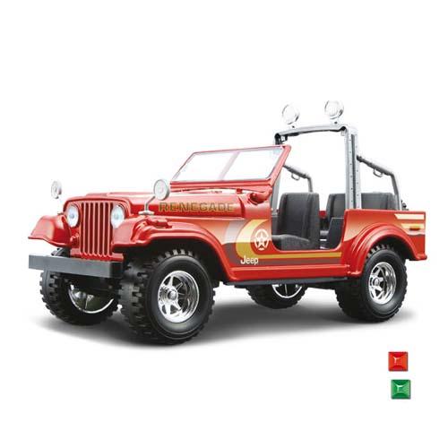 Автомодель - Jeep Wrangler (ассорти красный, зеленый, 1:24)