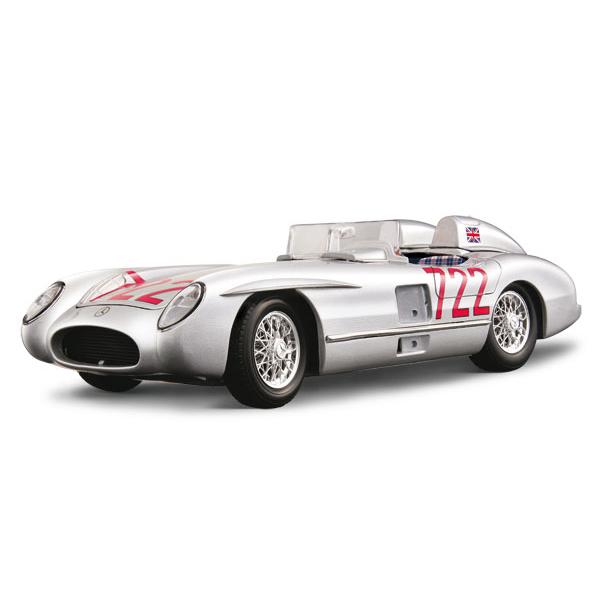 Авто-конструктор - Mercedes-Benz 300 SRL M.M. (1955) (серебристый, 1:18)