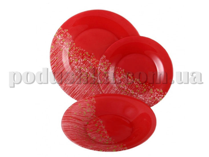 Сервиз Luminarc FLOWERFIELD red 19 предметов