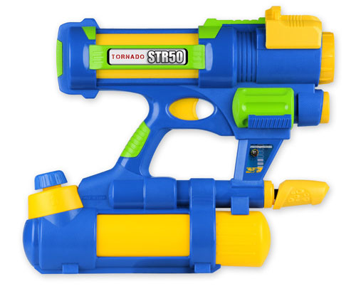 Водный пистолет - TORNADO - STR50 (желто-голубой)