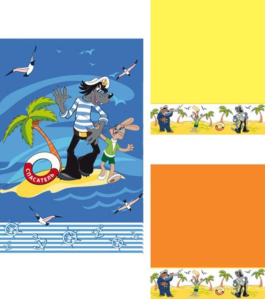 Набор махровых полотенец  На острове