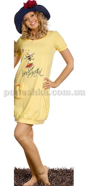 Ночная сорочка Вайде 1349К (желтый с пчелой)