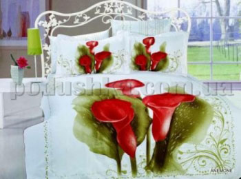 Постельное белье Arya Anemone Полуторный комплект  ARYA