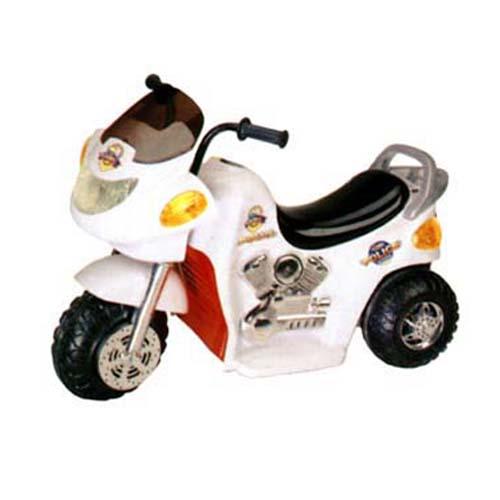 Мотоцикл - POLICE (двигатель 1х6 В, скорость 2.5 км/ч, грузопод. 30 кг, белый)