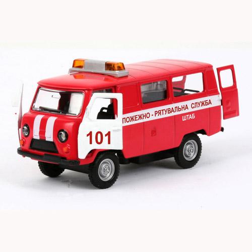 Автомодель - УАЗ-39625 Пожарная (свет, звук)