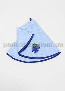 Полотенце махровое кухонное круглое Mariposa Виноград синий