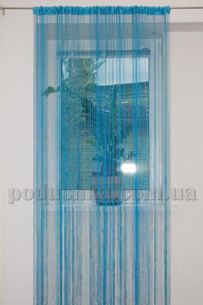 Ниточная тюль Haft 4699 250х200 голубая