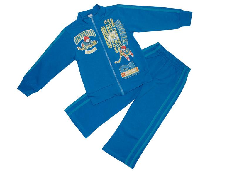 Спортивный костюм для мальчика Фламинго 770 футер стрейч