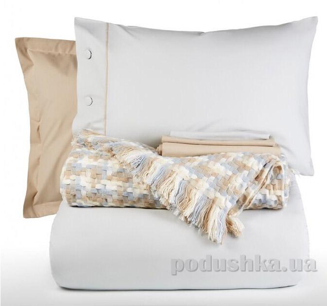 Постельное белье с пледом Karaca Mia soft mavi Двуспальный евро комплект с пледом  Karaca home