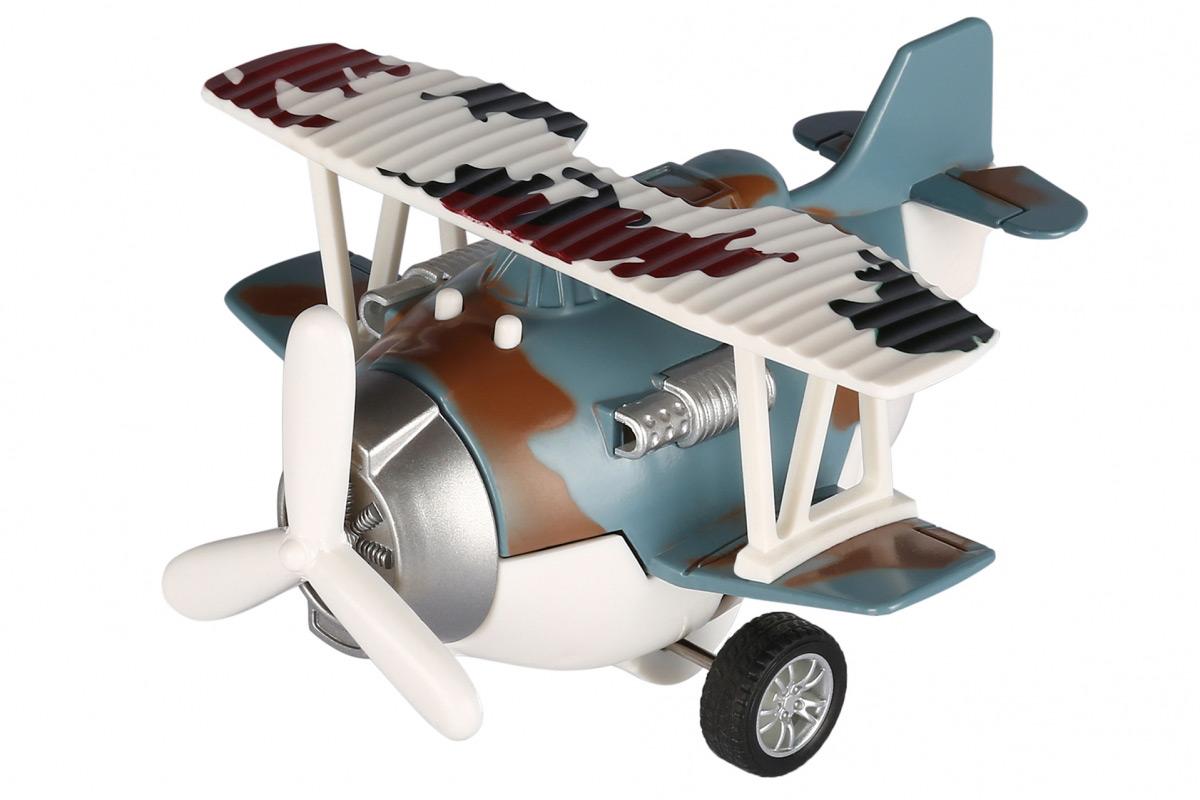 Самолет металический инерционный Same Toy Aircraft синий SY8016AUt-4