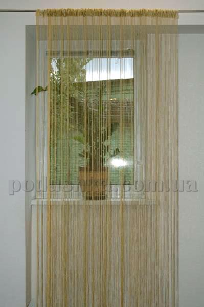 Ниточная тюль Haft 4699 оливковая