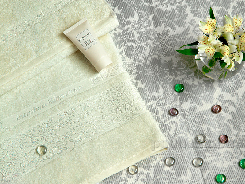 Набор махровых полотенец TAC Bamboo Elegance кремовых