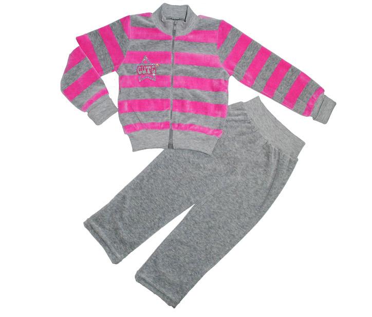 Костюм для девочек Фламинго 965 велюр