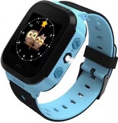 Детские телефон-часы с GPS трекером GoGPS me K12 Синие K12BL