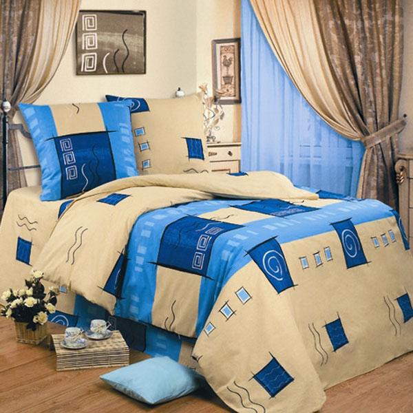 Постельное белье Дюна синий