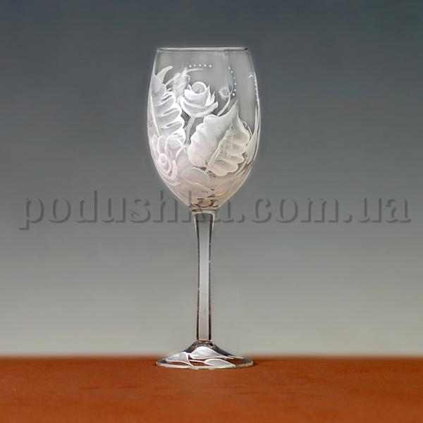Бокалы для вина Морозные узоры - ручная роспись
