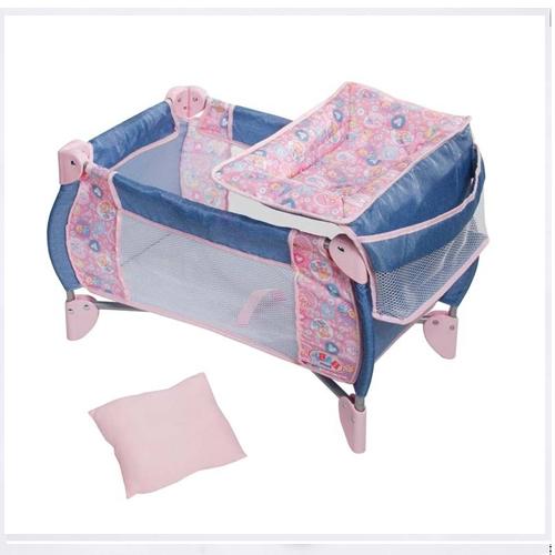 Кроватка 2 в 1 для куклы Baby Born (с подушкой и пеленальным столиком)