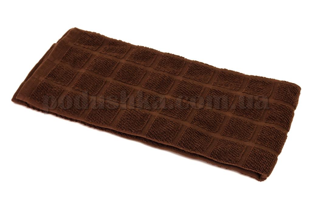 Полотенце кухонное Maisonette Kitchen Style-130 Квадраты темно-коричневое