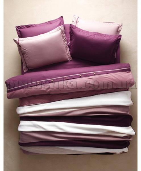 Постельное белье с пледом Karaca Solid Bold фиолетовый