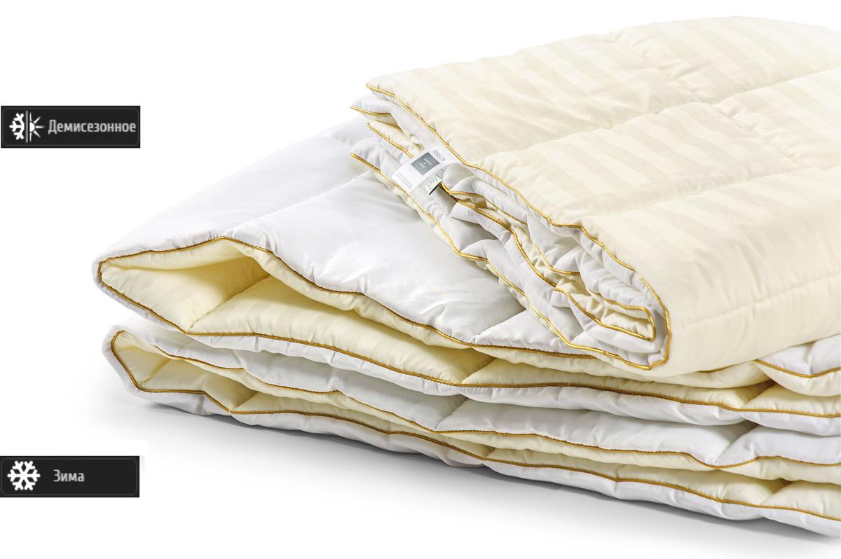 Одеяло антиаллергенное EcoSilk Carmela Деми Чехол сатин+микро 005 демисезонное 140х205 см вес 700 г. MirSon
