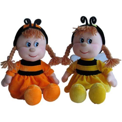 Мягкая игрушка - Кукла-Пчелка музыкальная, 21,5 см