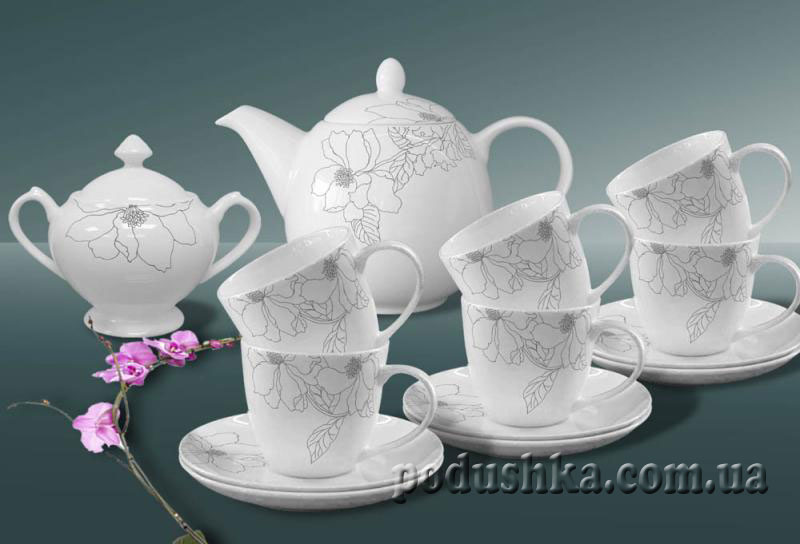 Сервиз чайный фарфор 14пр. Aprilia De Luxe