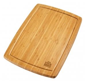 Доска разделочная прямоугольная 40x28x2 см (бамбуковое дерево) 3143-S