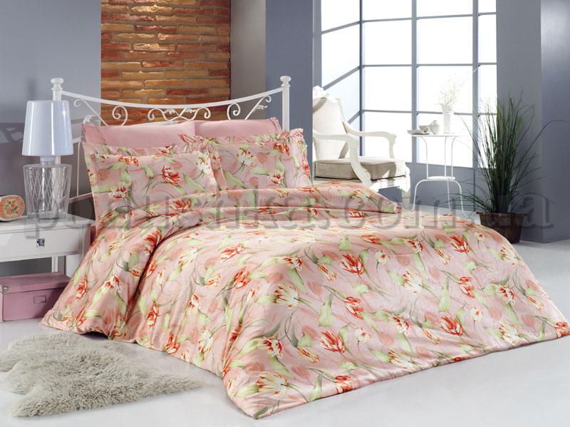 Постельное белье Tulay V3 Mariposa шелк-бамбук сатин Двуспальный евро комплект  Mariposa