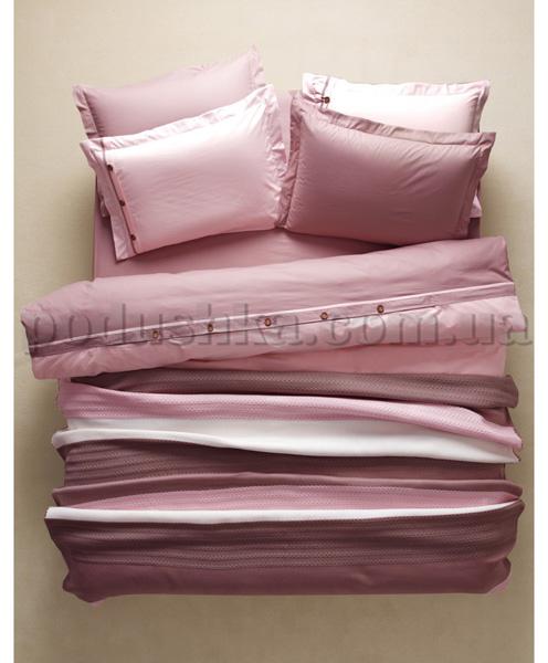 Постельное белье с пледом Karaca Solid Bold розовый