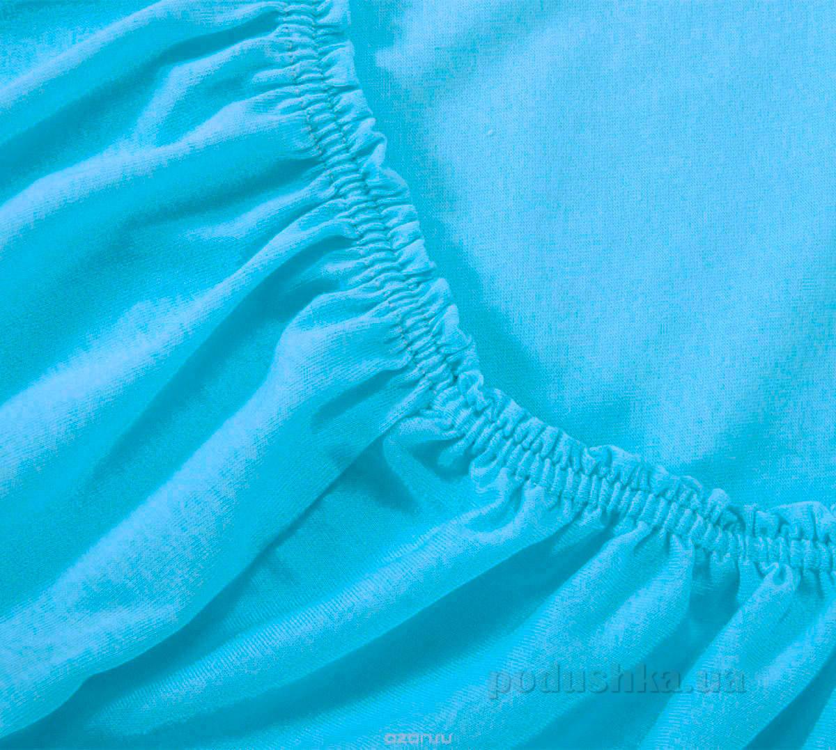 Простынь трикотажная на резинке Arya TR1002126 голубая 200х220 см  ARYA