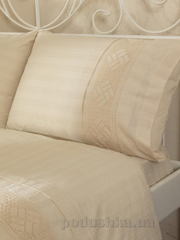 Постельное белье Buldans Nazende кремовое Двуспальный евро комплект  Buldans