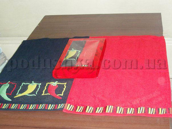 Набор махровых кухонных полотенец Hanibaba Перец