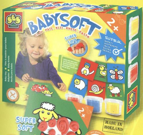 Набор для занятий лепкой - Для малышей (3 цвета, карточки)