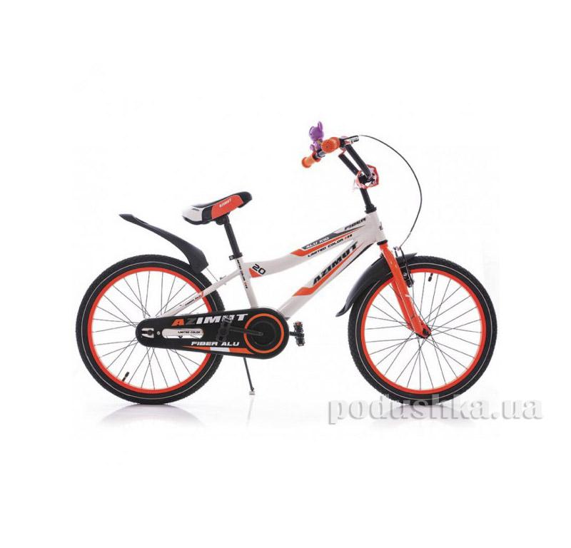 Велосипед Azimut Fiber 20 Бело-оранжевый   Azimut