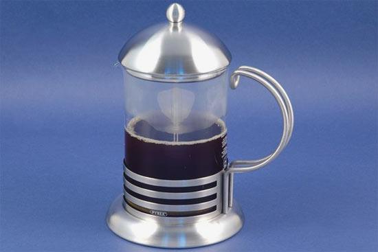 Стеклянный заварочный чайник с поршнем 800 мл Г7104М