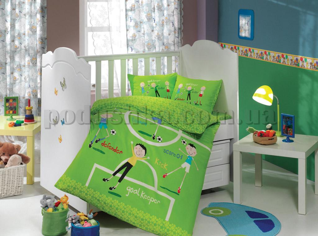 Постельное белье в кроватку Hobby Soccer зеленый